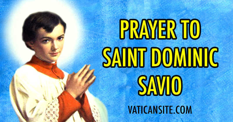 St dominic savio novena prayer