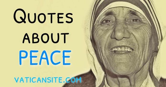 St. Mother Teresa Quotes About Peace