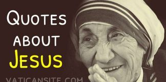 St. Mother Teresa Quotes About Jesus