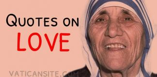 St. Mother Teresa Quotes on Love